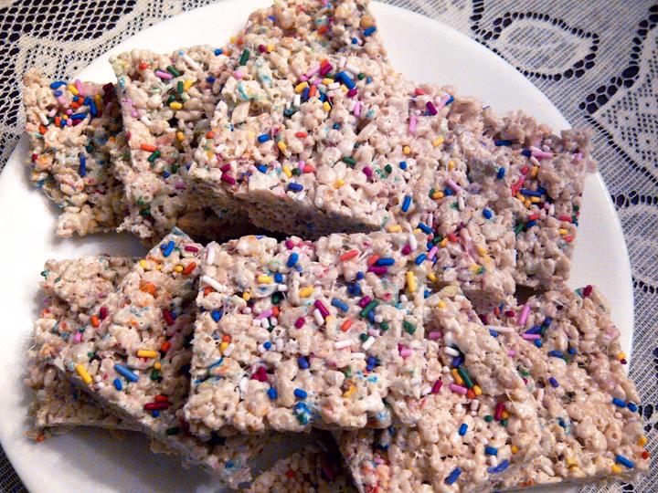 Wondrous Cake Batter Rice Krispie Treats Personalised Birthday Cards Sponlily Jamesorg
