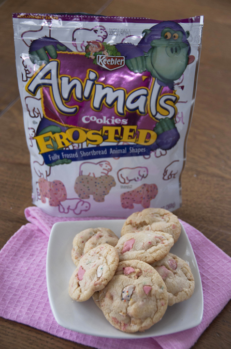Frosted-Animal-Chunk-Cookies-Circus-Animal-Cookies Recipe with sugar cookies as the base