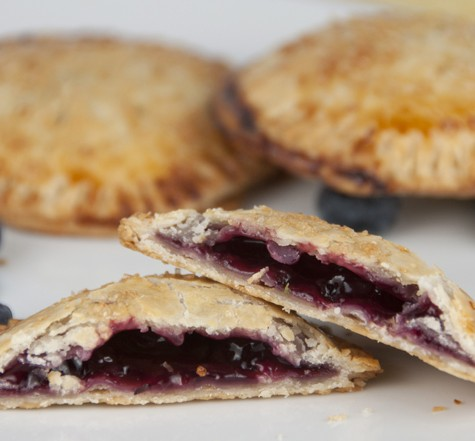 Gluten Free Blueberry Hand Pies Recipe made with Bob's Red Mill pie crust mix