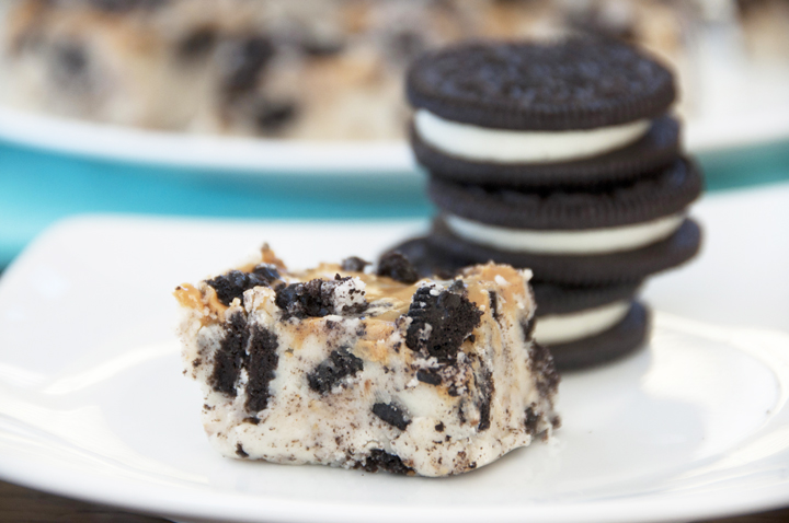 Oreo Peanut Butter Swirl White Chocolate Fudge Recipe.  Great for holidays.