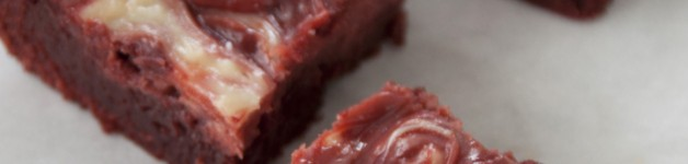 Red Velvet Cheesecake Swirl Brownie Recipe. Perfect dessert for Valentine's Day or Christmas.