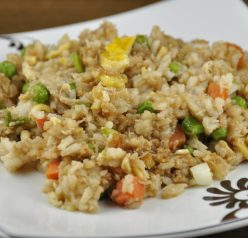 Chinese Fried Rice with Chicken. Great Asian dish and better than takeout! www.wishesndishes.com