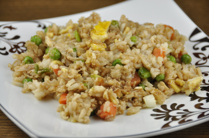 The Best Chinese Fried Rice with Chicken.  Great Asian dish and better than takeout! www.wishesndishes.com