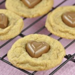 Chocolate Heart Biscoff Cookies