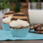 Fudge Stripe Cookie Cupcakes