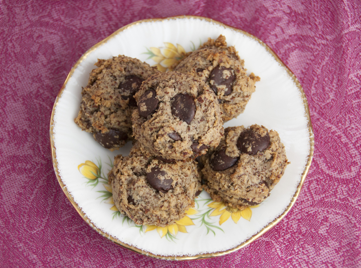 Healthy Gluten Free Almond Chocolate Chip Cookies recipe made with Bob's Red Mill Almond Flour
