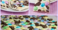 Easter Bunny Bark is a great holiday dessert recipe with melted white chocolate and Easter candy.