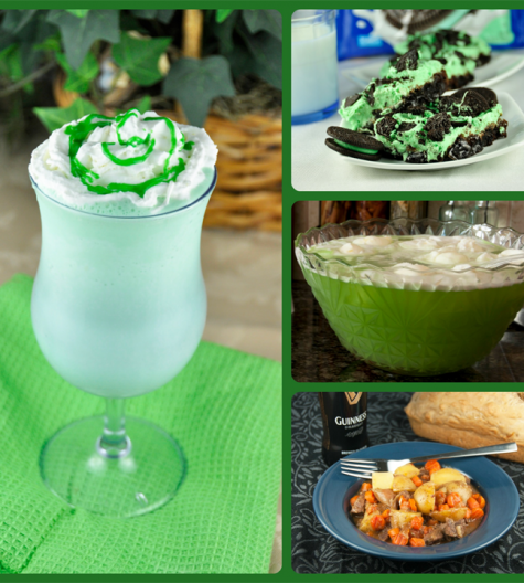 Green St. Patrick's Day Recipe Ideas www.wishesndishes.com
