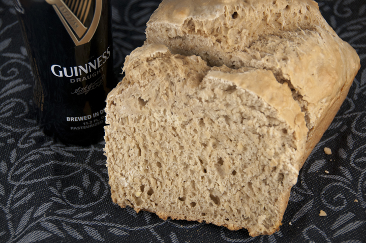 I love a great Irish Guinness beer bread recipe, especially for St. Patrick's Day. This Guinness version comes together super fast and couldn't be easier to make. Five minutes of work will reward you with a heavenly aroma!