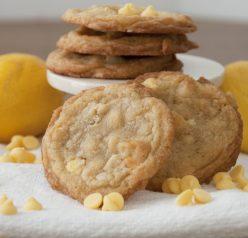 Lemon Chip Macadamia Nut Cookies. Fun Spring dessert!