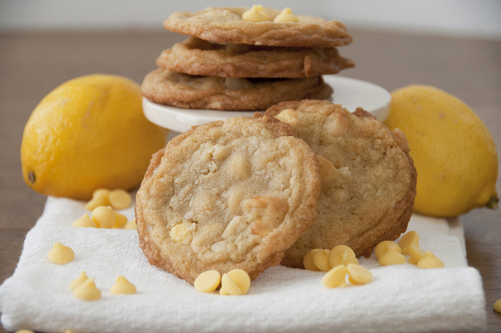Lemon Chip Macadamia Nut Cookies.  Fun Spring dessert!