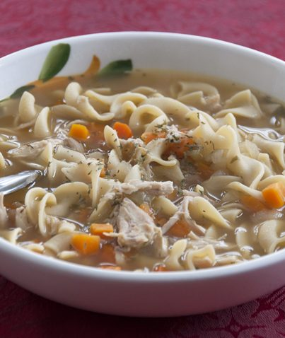 The best homemade chicken noodle soup recipe.