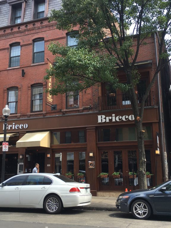 Bricco Italian Restaurant in Boston on Hanover Street.