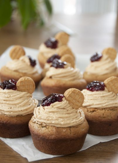 Giant Peanut Butter and Jelly Cookie Cups dessert recipe for the PB&J lover.