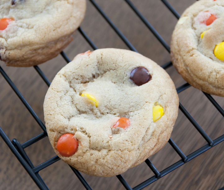 Soft baked reeses pieces cookies soft baked reeses pieces cookie recipe no mixer required and easy dessert forumfinder Images