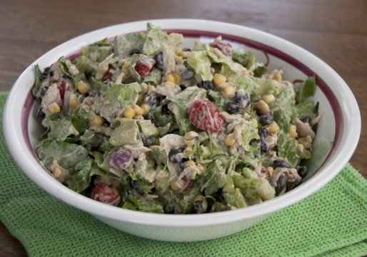 Chipotle Chicken Taco Salad is a delicious and healthy Mexican food dish made with avocado and Greek yogurt.