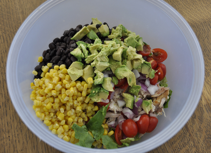 Chipotle Chicken Taco Salad Is A Delicious And Healthy Mexican Food Dish Made With Avocado