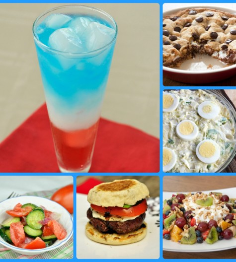 Memorial Day recipe roundup ideas for grilling out or picnics.