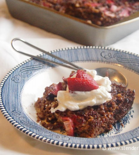 Baked Strawberry Oats Granola Bars recipe for an easy, healthy on the go breakfast.