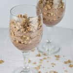 Chocolate Almond Butter Yogurt Granola Parfaits Recipe makes a healthy breakfast or skinny dessert.