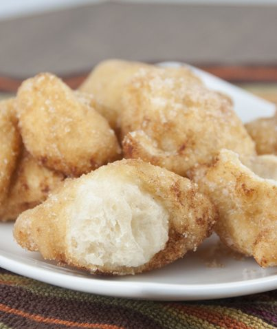 Cinnamon Sugar Fried Dough recipe using store bought pizza dough