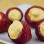 This simple stuffed strawberries recipe is perfect for dressing up any occasion, such as a shower, picnic, or party. The lemon mousse turns plain strawberries into a decadent dessert.