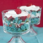 Mini 4th of July Strawberry Trifles
