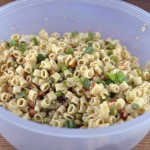 Pasta with Peas, Smoked Almonds and Dill