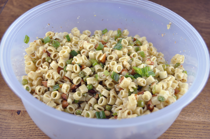 Pasta With Peas Smoked Almonds And Dill Wishes And Dishes