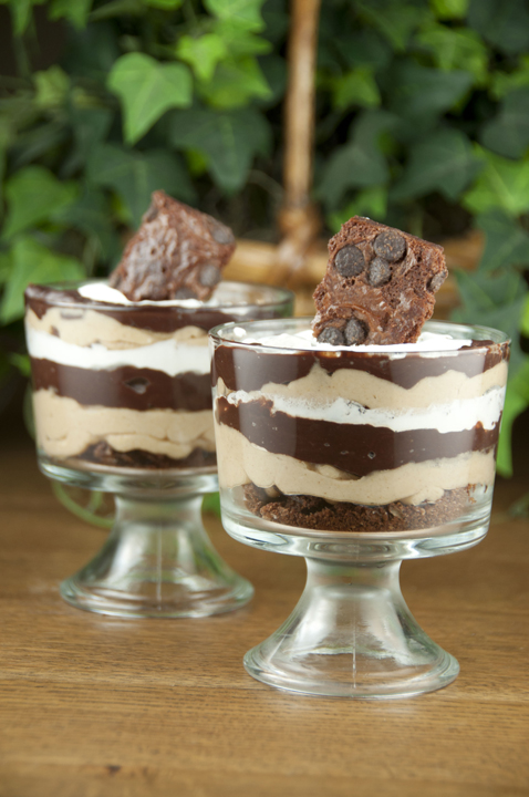 Brownie Brittle Chocolate Peanut Butter Parfaits