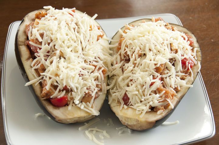 These delicious Grilled Stuffed Eggplant Boats can be served as an appetizer or a main course and are fun for a summer grilling recipe.