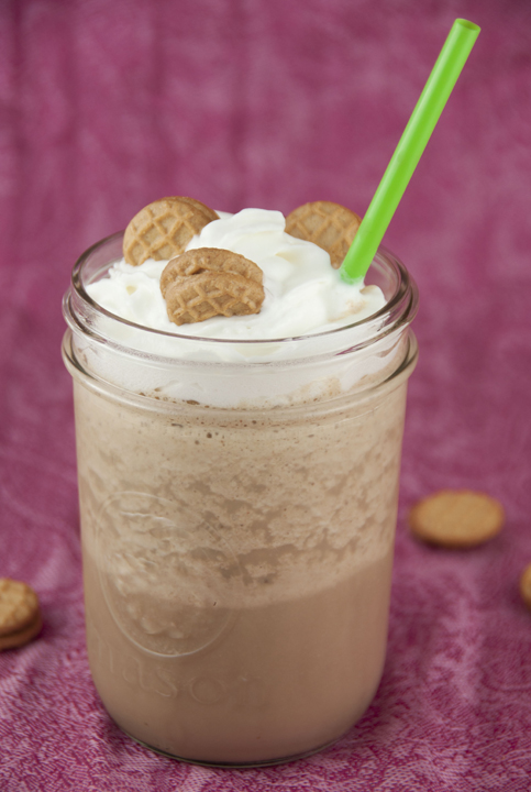 Sweet Cream Peanut Butter Iced Coffee recipe very similar to a frappuccino- have your iced coffee and a perfect frozen treat in one amazing iced frozen coffee drink!