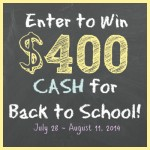Back to School $400 Giveaway!