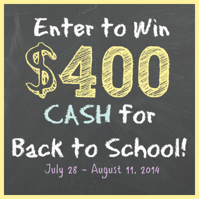Back to School Cash Giveaway