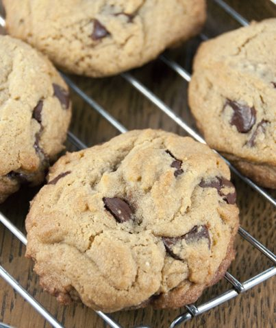 Get fresh bakery style chocolate chip cookies right at home with this quick and easy recipe. This is the best ever thick chocolate chip cookie recipe and will become your favorite!