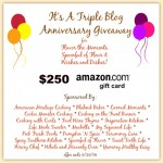 Blog Anniversary $250 Amazon Card Giveaway!