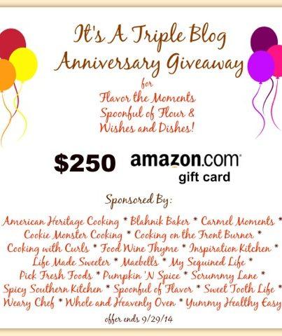 Blog Anniversary Amazon Gift Card Giveaway
