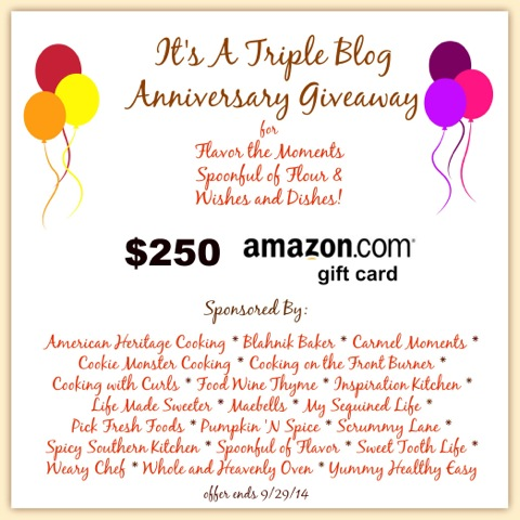 Blog Anniversary Amazon Gift Card Giveaway