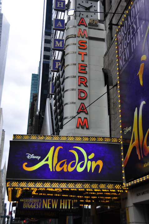 Aladdin on Broadway, Amsterdam Theater, NYC.