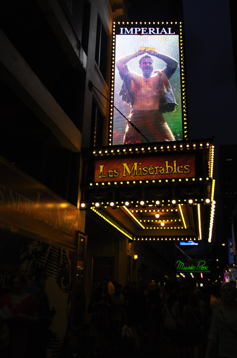 Outside the Imperial Theater, Les Miserables, Broadway.