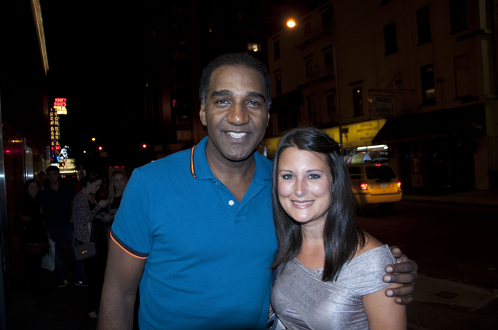 Meeting Norm Lewis at the stage door of Phantom of the Opera, Majestic Theater, Broadway.