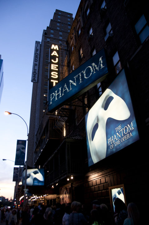 Phantom of the Opera, Majestic Theater, Broadway.
