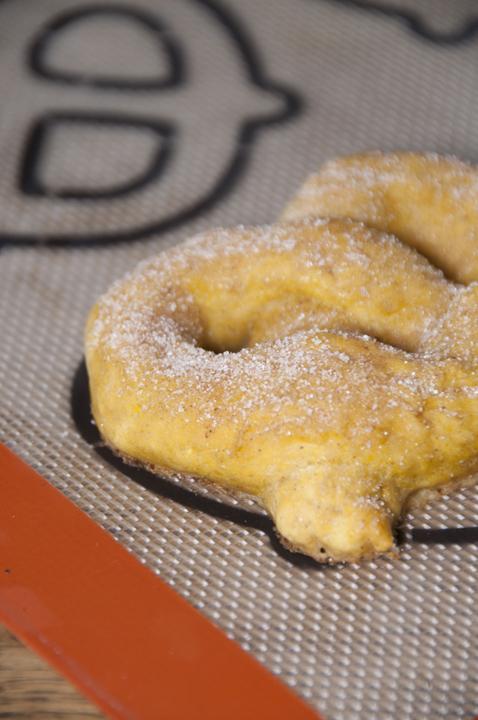 Cinnamon Sugar Pumpkin Soft Pretzels recipe