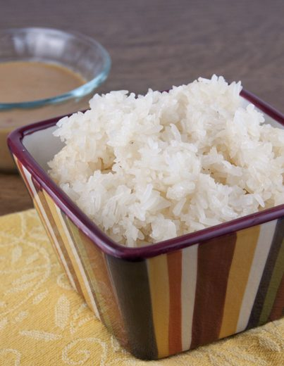 Thai recipe for authentic Sticky Rice the way that it's really made in Thailand. My favorite way to eat rice!