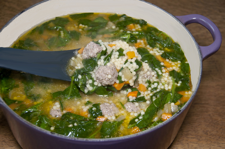 ... Italian wedding soup. Great easy comfort food for cold nights