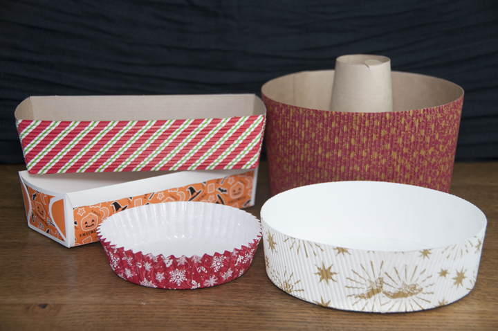 Welcome Home Brand Paper Bakeware for the holidays for easy clean up or gifts.