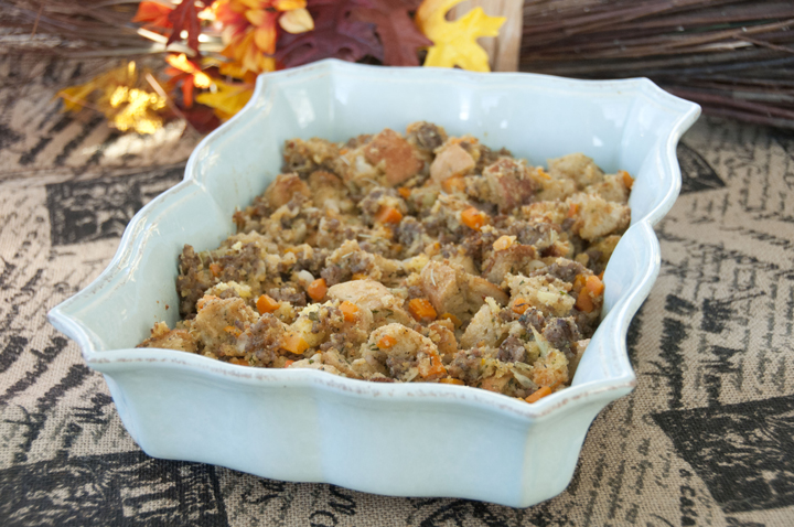 Sourdough Cornbread and Sausage Stuffing | Wishes and Dishes