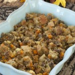 "Whether you call it ""dressing"" or ""stuffing"", this will be the best you have ever had. Cornbread stuffing with delicious seasonings is a Southern favorite and nice change from more traditional white-bread stuffing."