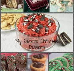 My top twelve favorite holiday dessert ideas, including quick breads, cobblers, puppy chow, cookies, and truffles. There is something for everyone here!