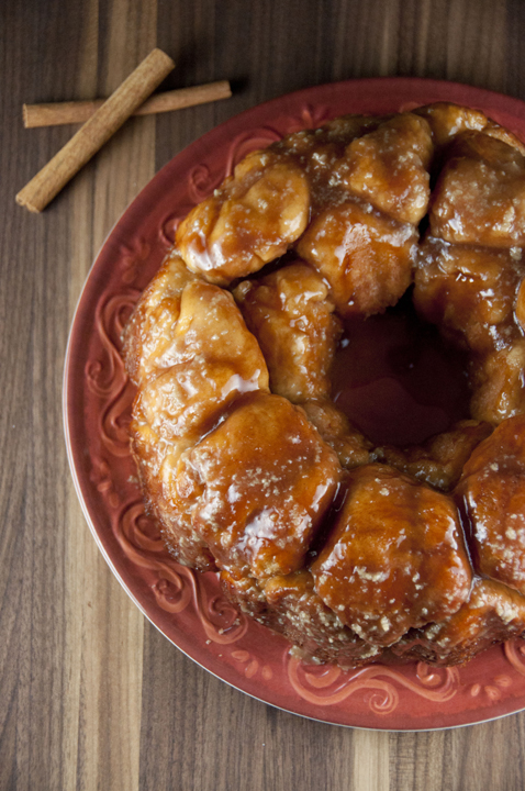 Don't bother searching around for other recipes for cinnamon pull-apart bread (or Monkey Bread).  This ooey-gooey bread is irresistible with the abundance of cinnamon and drizzled with a warm maple glaze.